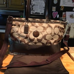 Coach Multi Function Diaper,Travel,Tote&Change Pad
